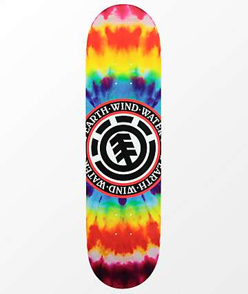 "Element Seal Tie Dye 7.5"" Skateboard Deck"