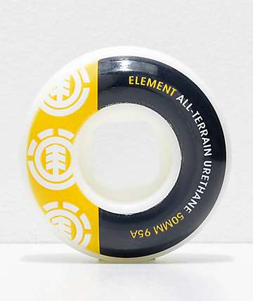 Element Section 50mm 95a Black & Yellow Skateboard Wheels