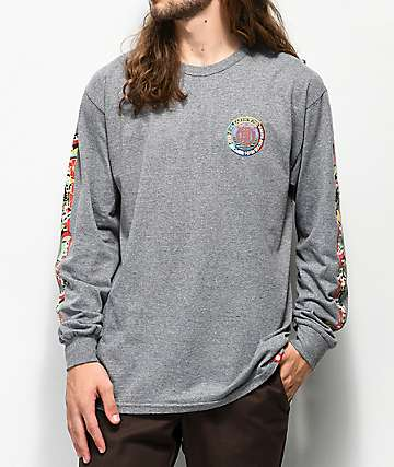 Element Spirited Grey Long Sleeve T-Shirt