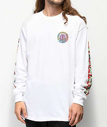 Element Spirited White Long Sleeve T-Shirt