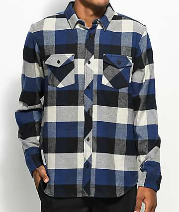 Element Tacoma 2.0 Eclipse Navy Flannel Shirt