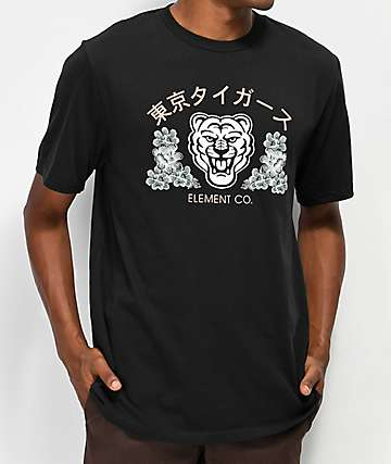 Element Tokyo Tigers camiseta negra