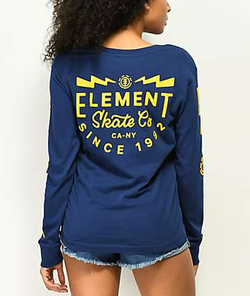 Element Zap Blue Long Sleeve T-Shirt
