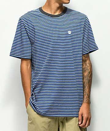 Element camiseta azul de rayas