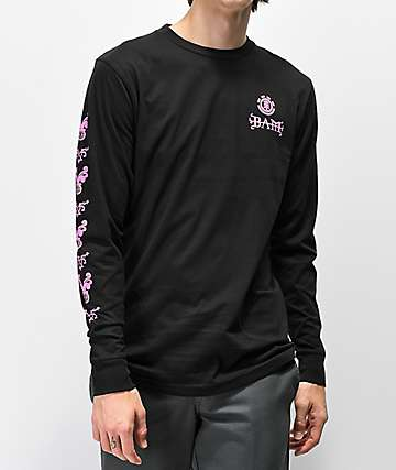 Element x BAM x HIM Heartagram V2 camiseta negra de manga larga