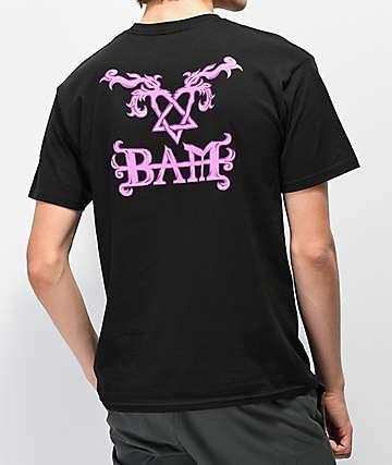 Element x BAM x HIM Tattoo camiseta negra
