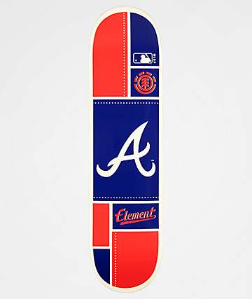 "Element x MLB Atlanta Braves Square 8.0"" Skateboard Deck"
