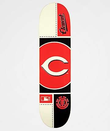 "Element x MLB Cincinnati Reds Circle 8.0"" Skateboard Deck"