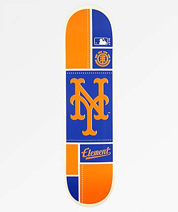 "Element x MLB New York Mets Square 8.0"" Skateboard Deck"