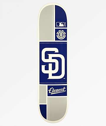 "Element x MLB San Diego Padres Square 8.0"" Skateboard Deck"