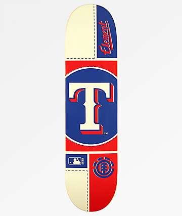 "Element x MLB Texas Rangers Circle 8.0"" Skateboard Deck"