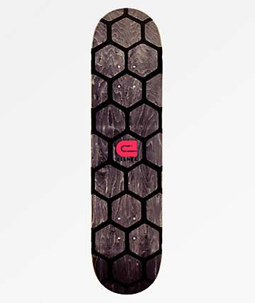 "Elenex Honey Comb 7.75"" Black Skateboard Deck"