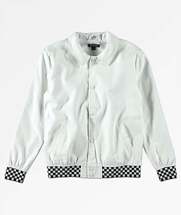 Elwood Boys White & Checkered Jacket
