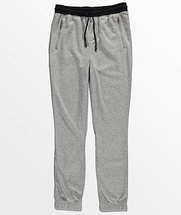 Elwood Boys Zipper Pocket & Gusseted Grey Jogger Pants