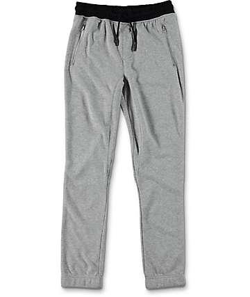 Elwood Boys Zipper Pocket Heather Grey Jogger Pants