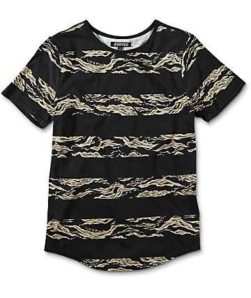 Elwood Camo Stripe camiseta negra para niños