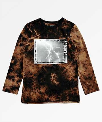 Elwood Split camiseta de manga larga con efecto tie dye para niños