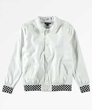 Elwood chaqueta blanca a cuados para niños