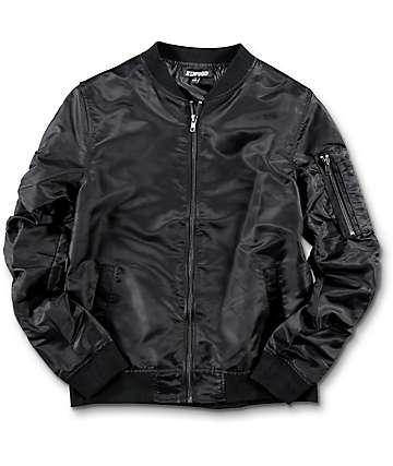 Elwood chaqueta bomber para niños en negro