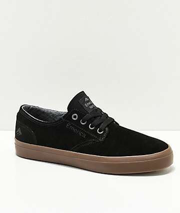 Emerica Boys Romero Black & Gum Skate Shoes