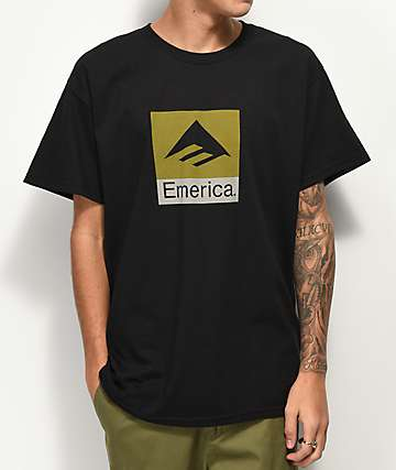 Emerica Combo Logo Black & Green T-Shirt