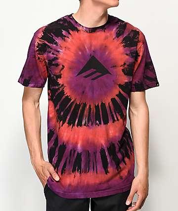 Emerica Dead Head camiseta con efecto tie dye