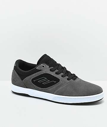 Emerica Dissent CT Grey, Black & White Skate Shoes