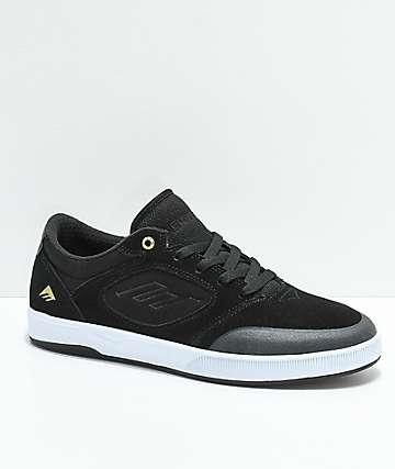 Emerica Dissent zapatos de skate de ante en negro y blanco