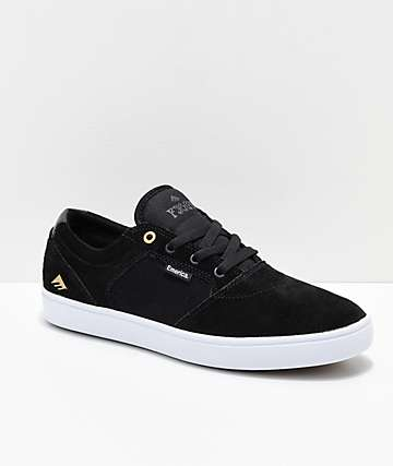 17940c7b325c Emerica Figgy Dose Black   White Skate Shoes