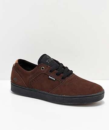 Emerica Figgy Dose Brown & Black Skate Shoes