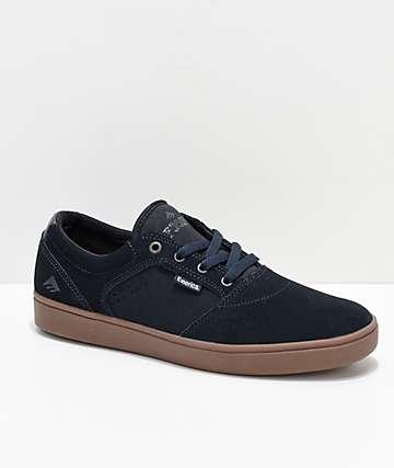 Emerica Figgy Dose zapatos de skate en azul marino y goma
