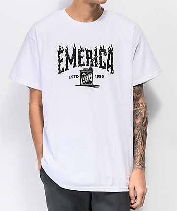 Emerica Gas Can Logo White T-Shirt