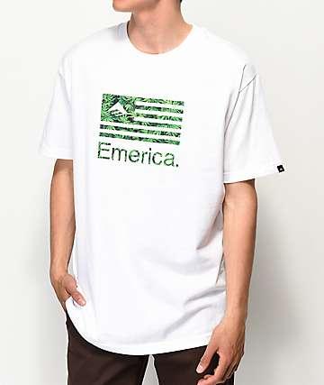 Emerica Pure Flag camiseta blanca