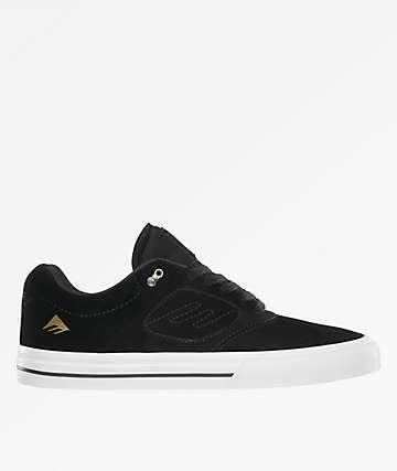 Emerica Reynolds 3 G6 Vulc Black, White & Gold Skate Shoes