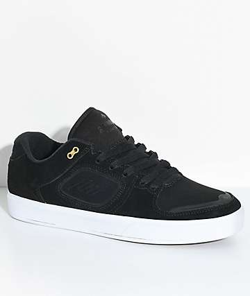 Emerica Reynolds G6 Black & White Suede Skate Shoes