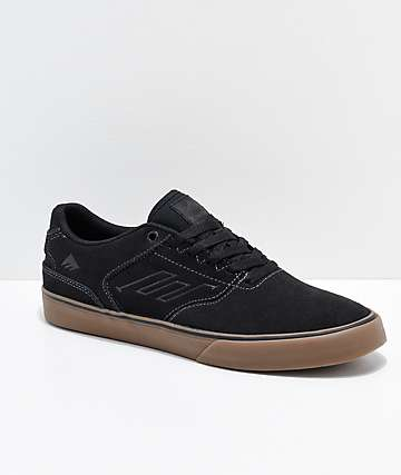Emerica Reynolds Low Vulc Black, Grey & Gum Skate Shoes
