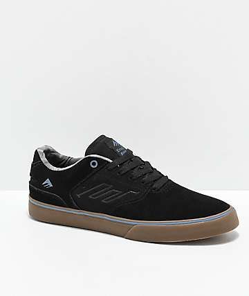 Emerica Reynolds Low Vulc Black, Gum & Blue Skate Shoes