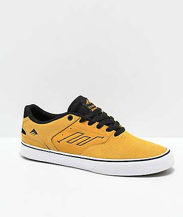 Emerica Reynolds Low Vulc Yellow, White & Black Skate Shoes