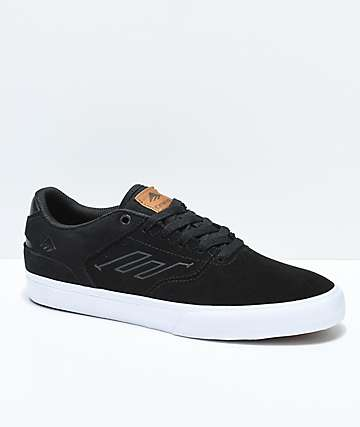 Emerica Reynolds Vulc Low Black & White Skate Shoes