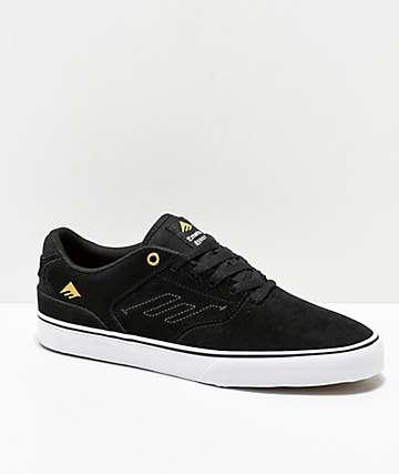 Emerica Reynolds Vulc Low zapatos de skate en negro y blanco