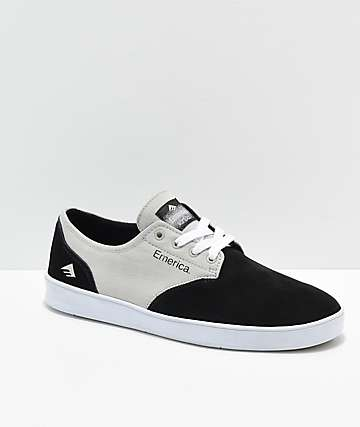 Emerica Romero Laced Black, Grey & White Skate Shoes