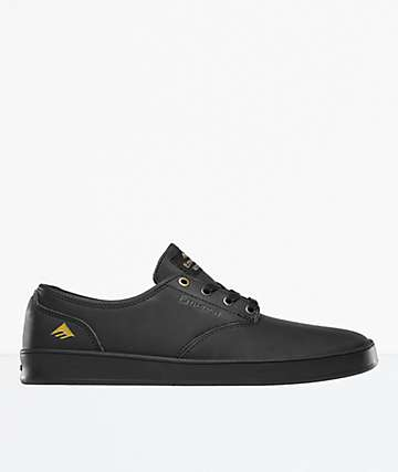 Emerica Romero Laced Black Leather Shoes