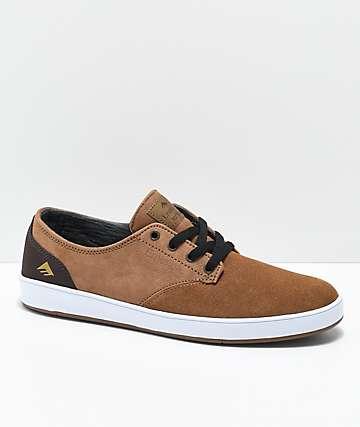 Emerica Romero zapatos de skate de ante marrón