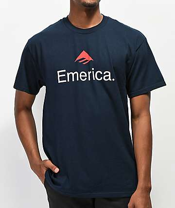 Emerica Skateboard Logo Navy T-Shirt