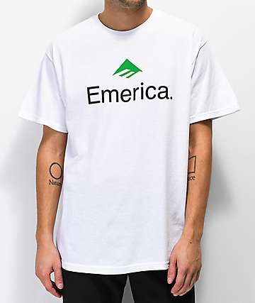Emerica Skateboard Logo White T-Shirt