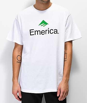 Emerica Skateboard Logo camiseta blanca