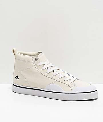 Emerica Winkoski Omen Hi White Skate Shoes