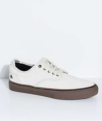Emerica Wino G6 Bone & Gum Suede Skate Shoes