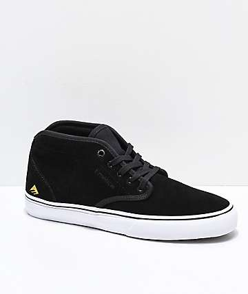 Emerica Wino G6 Mid Black & White Skate Shoes