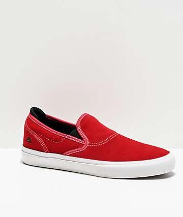Emerica Wino G6 Red Slip-On Skate Shoes